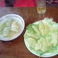 ロールキャベツとサラダ