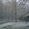 風呂屋の庭も雪景色