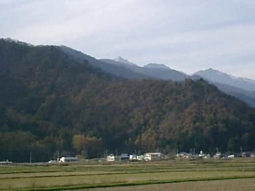 紅葉の白馬連山