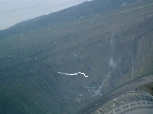 三浦車 飛行機が衝突