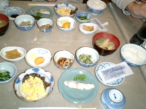 朝食ですよ、日本の朝飯