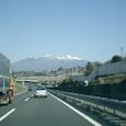 中央高速から八ヶ岳