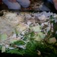 キャベツ、豚肉、海老、