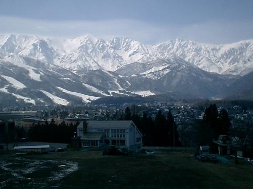 後立山連峰雪景色