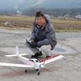 飛行準備 スバル09電動仕様機