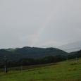 虹がかかる栂池スキー場