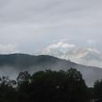 夕日に映える白馬岳