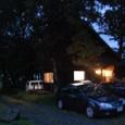 夜のしじまの山小屋