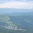 白樺湖 後は車山 その後ろは乗鞍岳