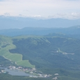 白樺湖と乗鞍岳、奥穂高連峰