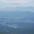 奥穂高から槍ガ岳、常念岳の峰々