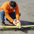 離陸準備のエアートラクター