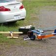 岩ちゃんの複葉機と管理人の飛行機