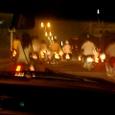 ハノイ市内道路 夜景