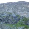 氷河が削った絶壁