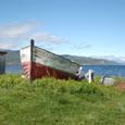 廃船とアルタの海