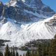 クローフット氷河とボー湖