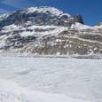 コロンビア大氷原から押し出した氷河