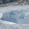 ブルーの氷とクレバス