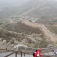 所々で東側から長城に登れる場所がある