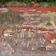 タイル絵 バッチャン村の風景