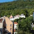 山に囲まれたベルゲンの街