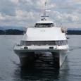 ベルゲンに戻る高速艇