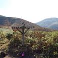 朝日の中の旧土湯峠