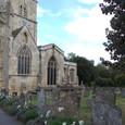 教会と墓地