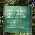 アメリカ滝 月の女神島 ブライダルフォール