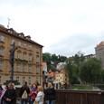 右岸壁の上がチェスキークルムロフ城