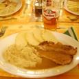 昼飯 キャベツ・ポテト・豚肉&Beer