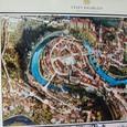 チェスキークルムロフ地図 右上が城