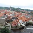 城からモルダウ川と街を眺める