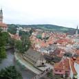 城から眺めるチェスキークルムロフの街
