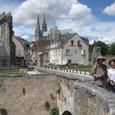 城壁跡からノートルダム大聖堂を望む