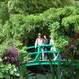 日本風橋と睡蓮の池