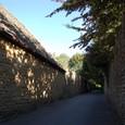 ライムストーンの石垣