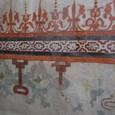 スペインの漆喰の跡 フレスコ画