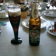 昼のビールです