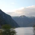 黄昏の氷河湖