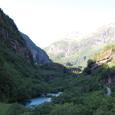 氷河の削った谷