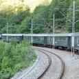 急勾配を引っ張る機関車