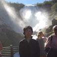 ショス滝 94メータの滝です