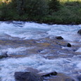 雪解け水のフロム川