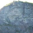 氷河が削った断崖