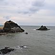 二見ケ浦海岸 蓬莱島に向かう海岸
