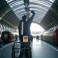 フランクフルト駅 歓迎?