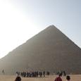 朝日と大ピラミッド