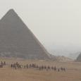 メンカウラー王ピラミッドとラクダ